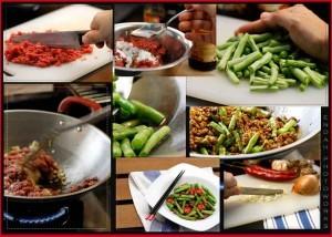 Sajian Khas Lebaran Daging Cincang Tumis Sayur